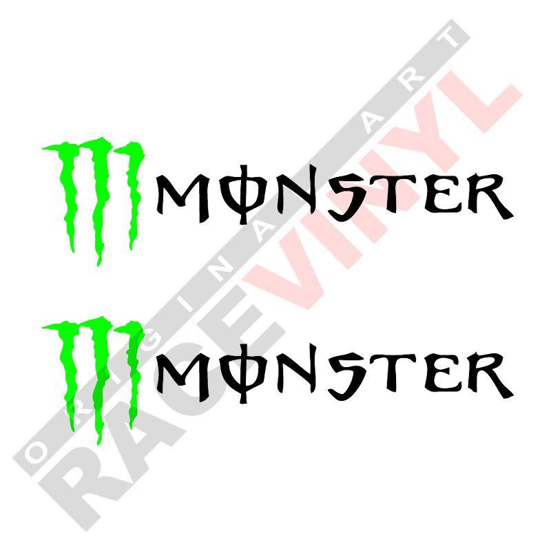 Adhesivos sponsors pegatinas logo Monster Energy 2uds