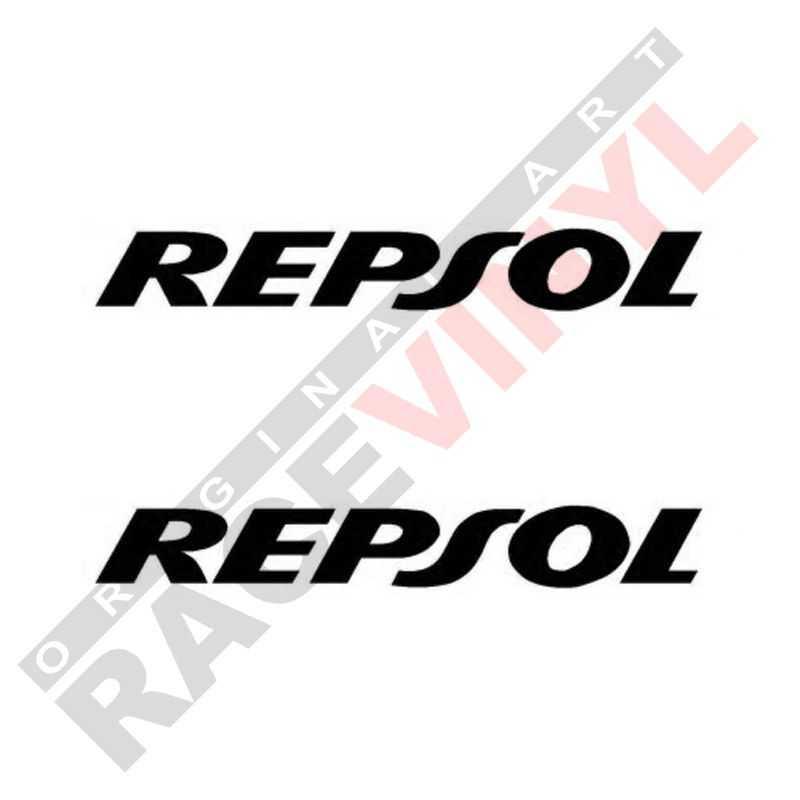 Vinilos de sponsors para motos adhesivos logotipo Repsol 2uds
