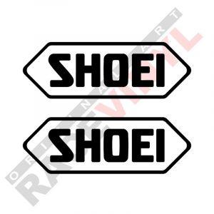 Pegatinas de sponsors para motos vinilos logotipo Shoei 2uds