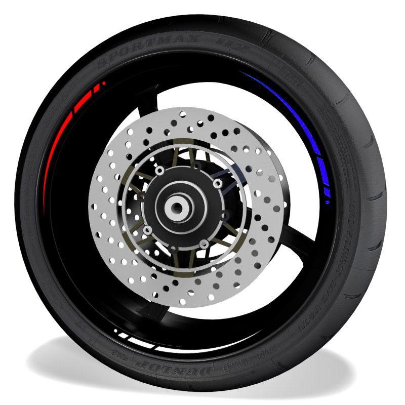 Vinilos y adhesivos para perfil de llantas de moto Triple HRC y BMW