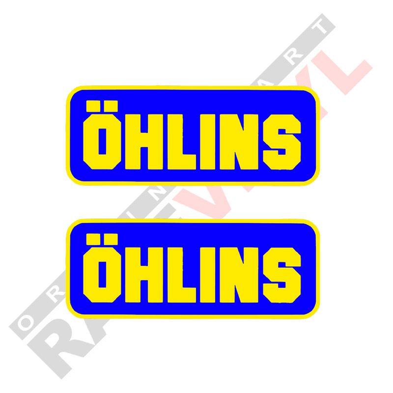 Pegatinas y vinilos de sponsors para motos logo Ohlins 2uds