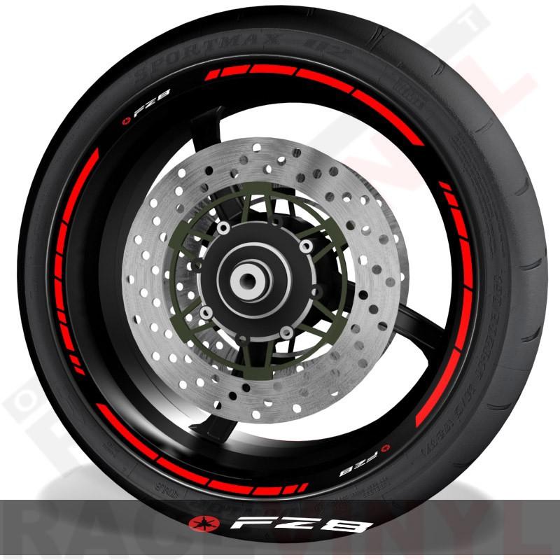 Pegatinas de moto vinilos adhesivos perfil de llantas Yamaha FZ8 speed