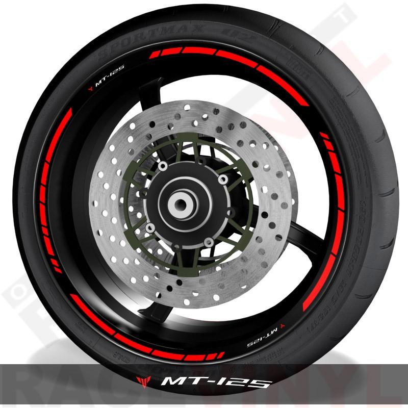 Adhesivos y accesorios para personalizar el perfil de llantas Yamaha MT125 speed