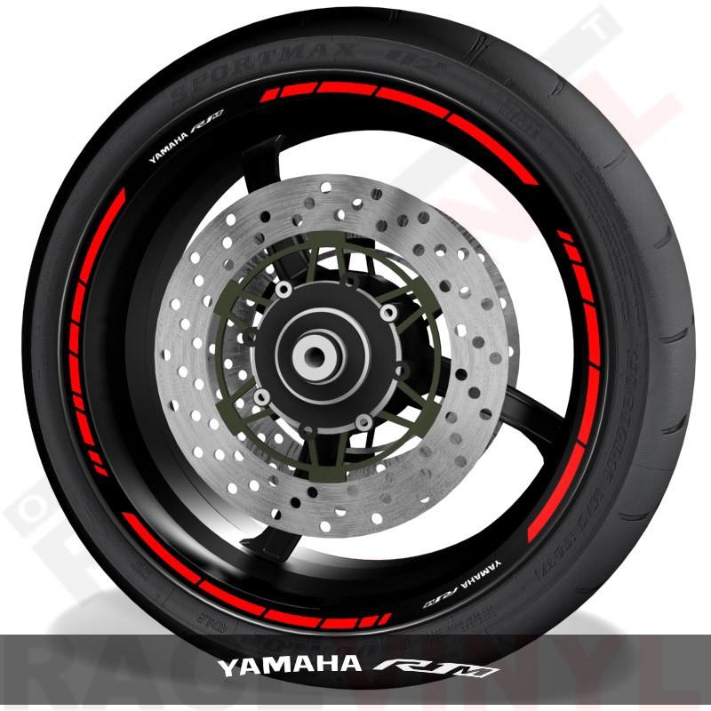 Accesorios y pegatinas para motos vinilos para perfil de llantas Yamaha R1M speed