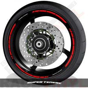 Accesorios y vinilos pegatinas para perfil de llantas Yamaha Super Tenere speed