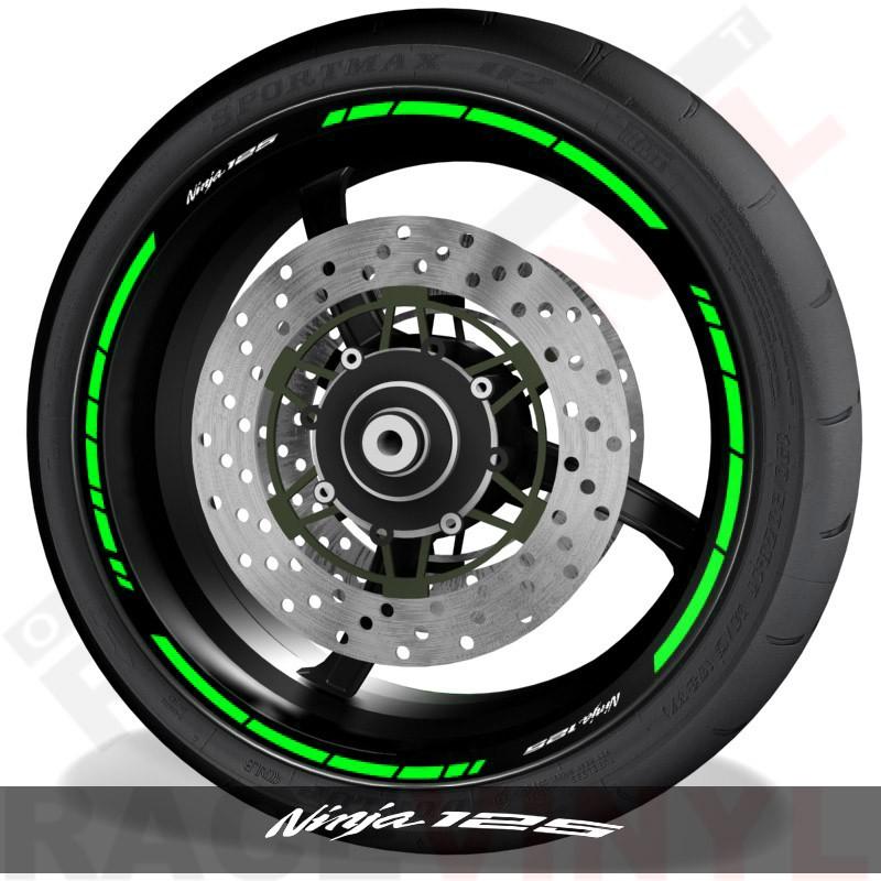 Accesorios para motos pegatinas para perfil de llantas Kawasaki Ninja 125 speed