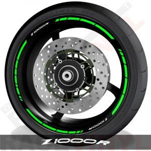 Adhesivos y accesorios para personalizar el perfil de llantas Kawasaki Z1000R speed