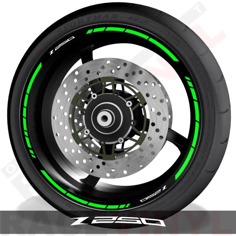 Adhesivos y accesorios para motos pegatinas para perfil de llantas Kawasaki Z250 speed