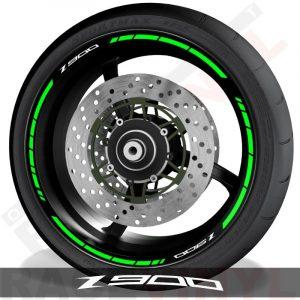 Pegatinas de moto vinilos adhesivos perfil de llantas Kawasaki Z900 speed