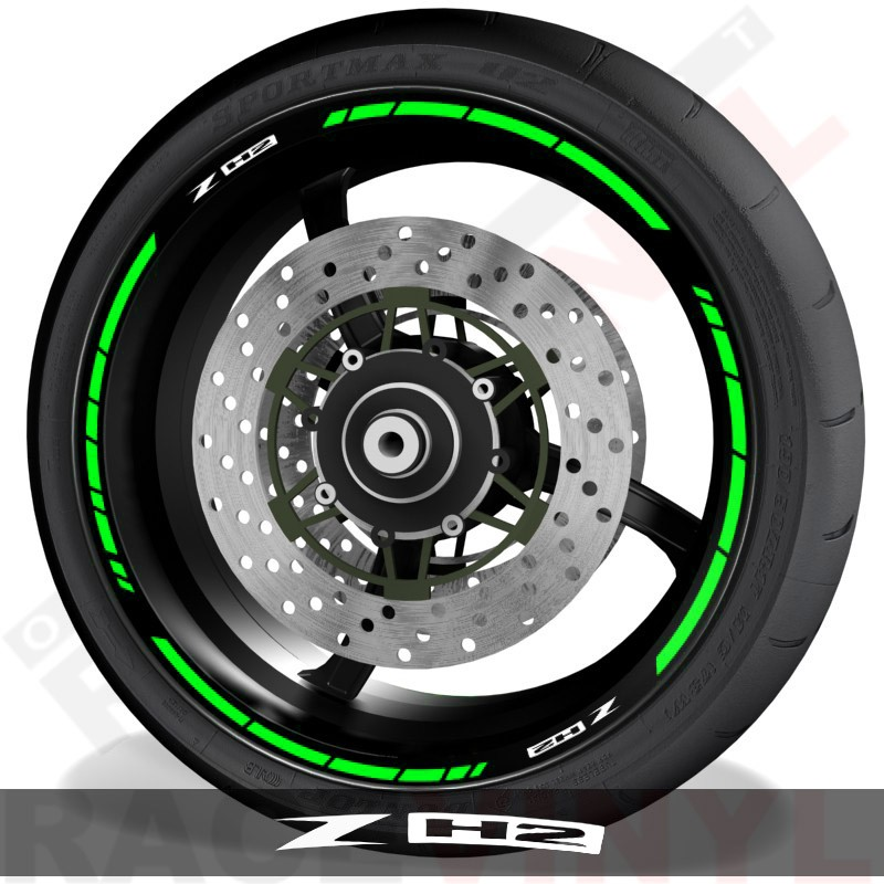 Accesorios y vinilos pegatinas para perfil de llantas Kawasaki ZH2 speed