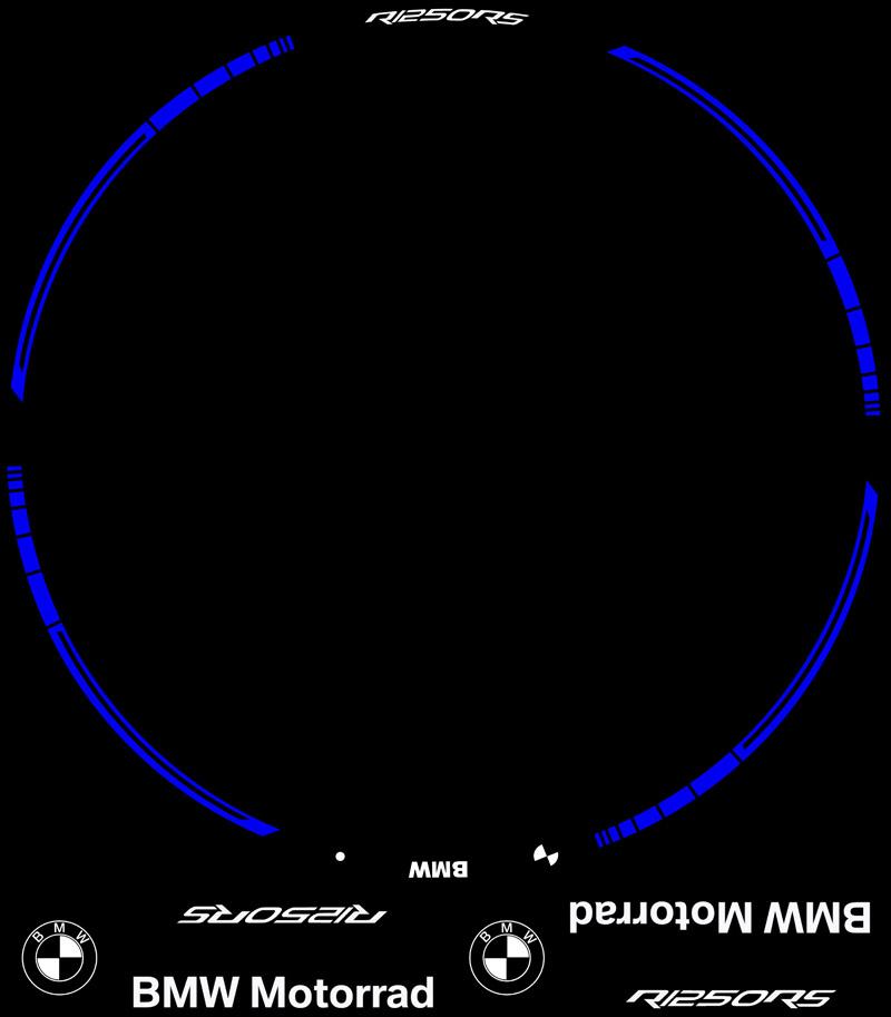 Plantilla contenido adhesivos Kit PRO BMW R1250RS