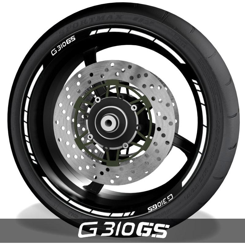 Adhesivos y accesorios para personalizar el perfil de llantas BMW G310GS speed