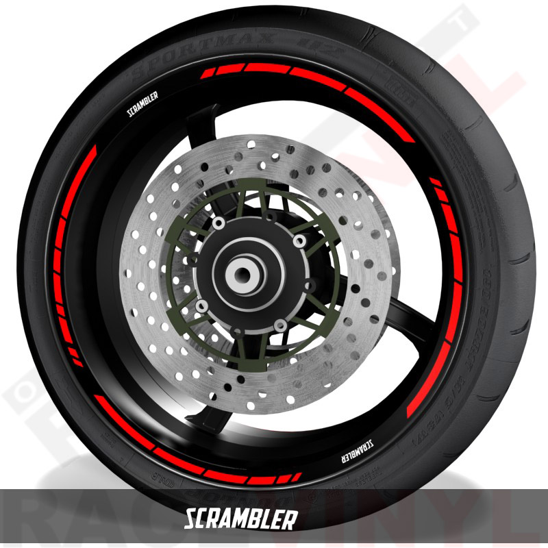 Rim sticker stripe vinyls for Ducati Scrambler speed
