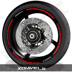Rim sticker stripe vinyls for Ducati XdiavelS speed