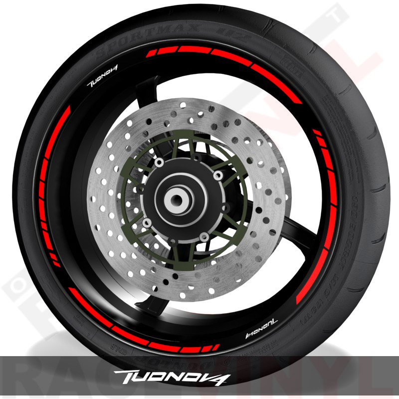 Vynils and stickers for tyre profile Aprilia TuonoV4 speed