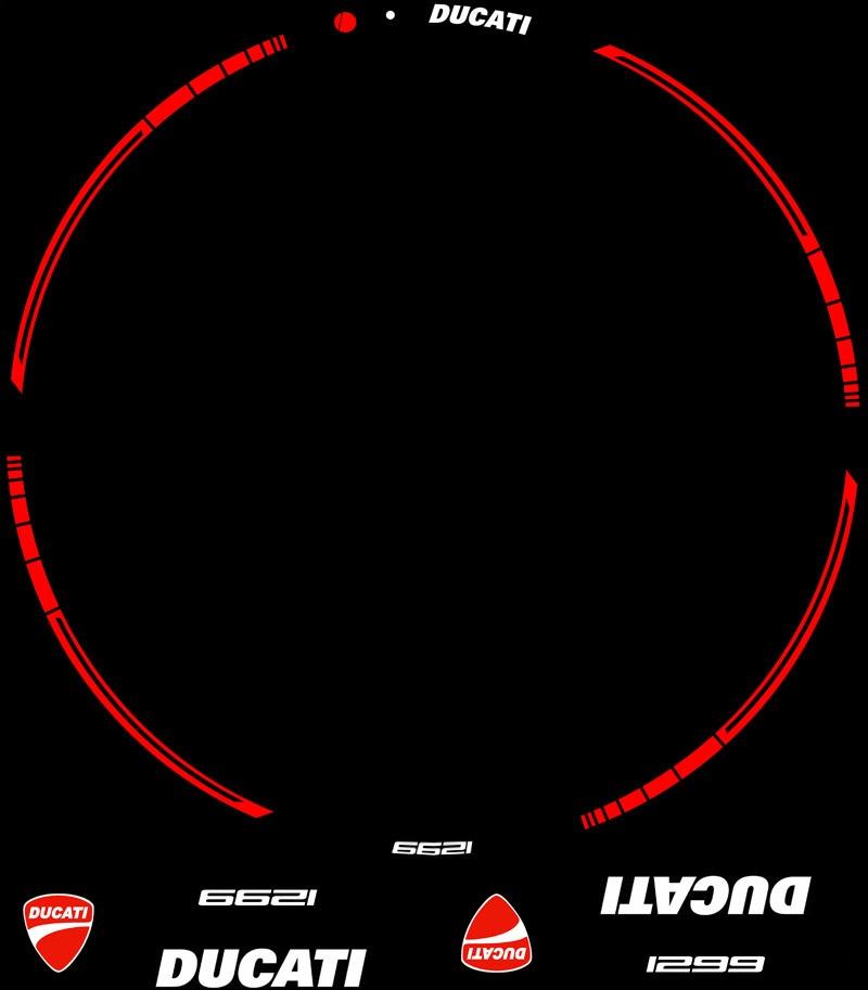 Contenido Kit PRO Ducati 1299 adhesivos