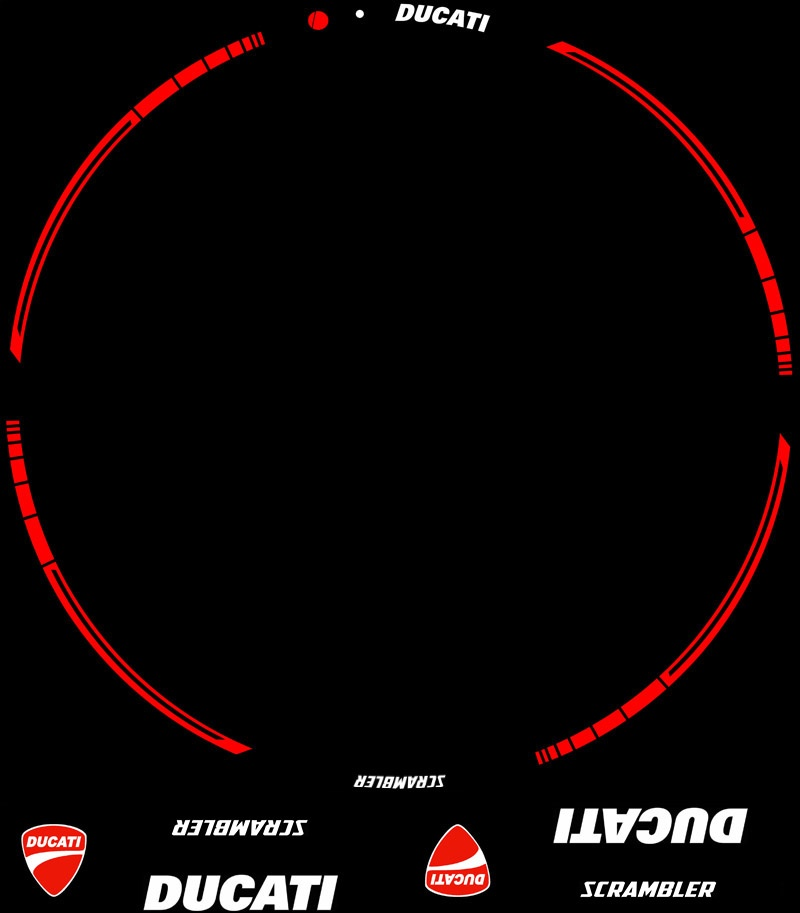 Contenido Kit PRO Ducati Scrambler adhesivos