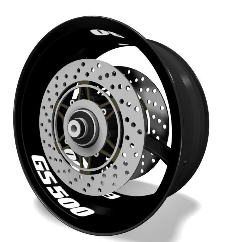 Inner rim vinyls, wheel interior decals logo Suzuki GS500