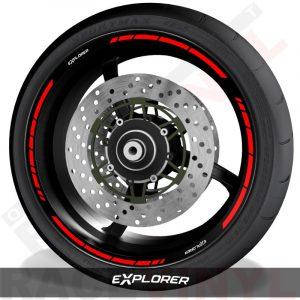 Outer rim sticker stripe vinyls for Triumph Explorer speed